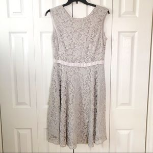 Alex Marie Gray Lace Dress 12